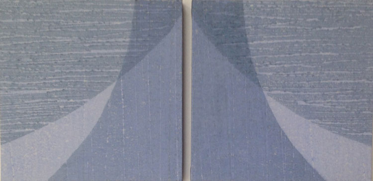 Fold, water-based woodblock, 13cm x 26cm, edition of 5