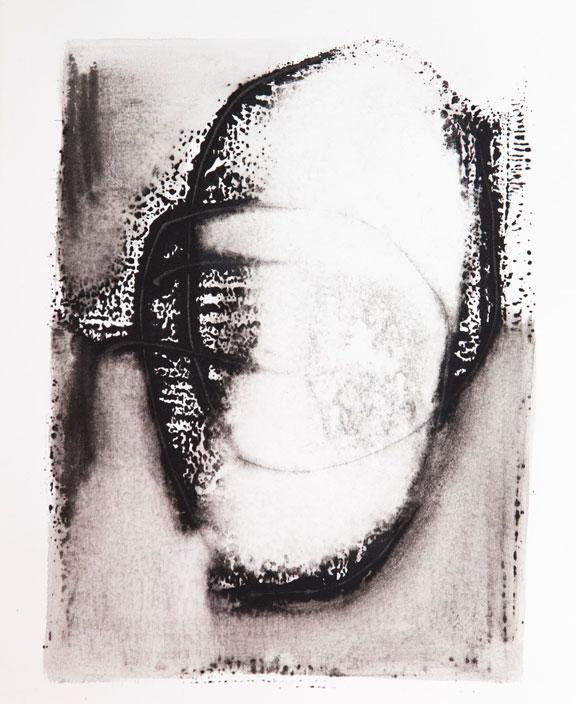 Mask 1, ink on paper, 30cm x 22cm