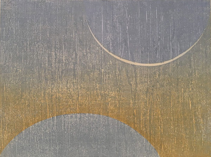 Indigo Moon, Japanese water-based woodblock, 60cm x 40cm, Edition of 5