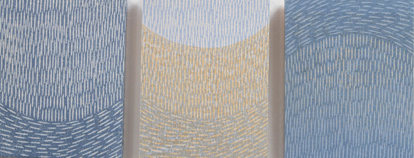 Triptych, water-based woodblock, 18cm x 45cm, edition of 5
