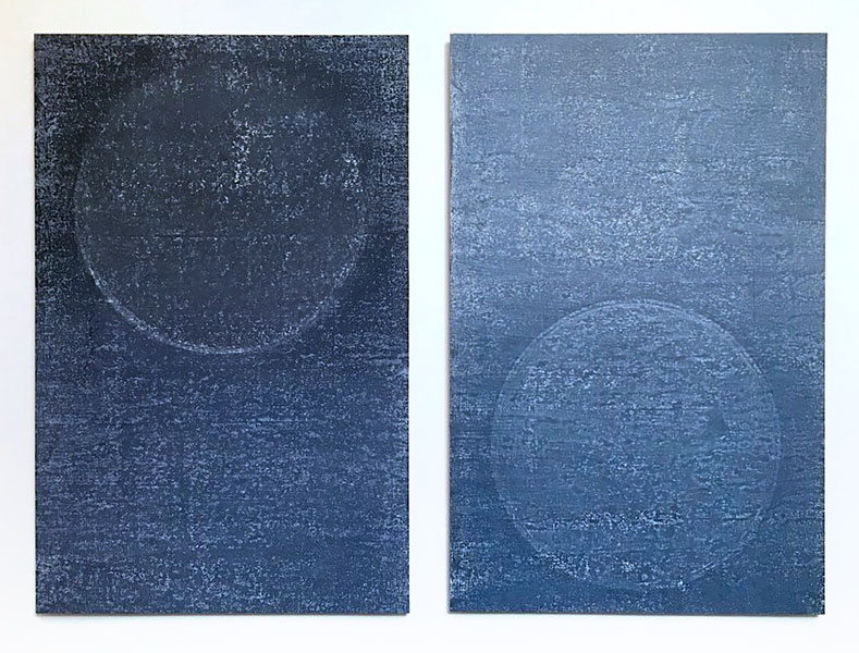 Echoes, Diptych, Japanese water-based woodblock on Kozo Washi, 120cm x 95cm, Edition of 5